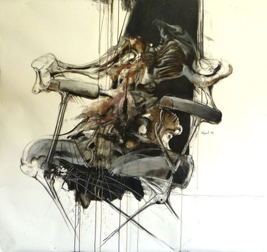 Acrylique/pastel sur papier Dim:160cmx140cm