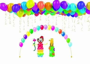 Оформление воздушными шарами детского праздника и дня рождения ребенка Москва