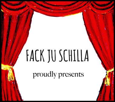 Bild: Zeichnung Kunst Fack ju Schilla Fackjuschilla Minidrama Vorhang Theater Oper Bühne Uraufführung