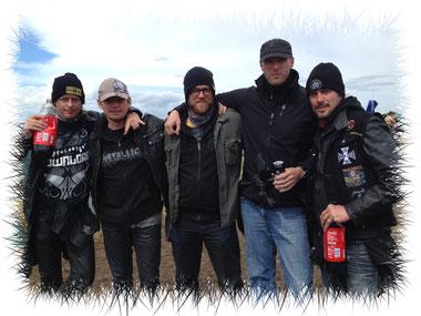 v.l.: Bertl, Tom, Schmausei, Jens & Mitch