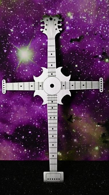 Instruments on Body, Halsschmuck, Schmuck für Musiker, Accessoires für Musiker, Schmuck für Gitarristen, Accessoires für Gitarristen, Kreuz.