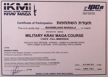 corso exspert krav maga Military Massimiliano Marsala