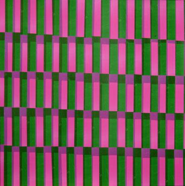 Rose + vert, dim. 93cm x 93cm, 2009