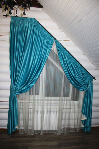 треугольные окна, шторы на треугольные окна