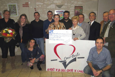 Coeur Ovale et la ligue contre le cancer