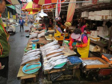 活気溢れる釜山港魚市場