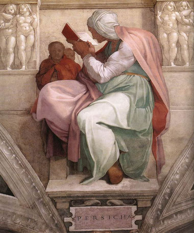 "Michelangelo, ""Sibilla Persica"", Cappella Sistina"