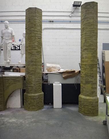 Columnas y arranque de Arcos, para obra teatral