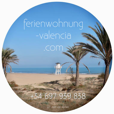 Der Strand nach Gandia - nur ein Katzensprung entfernt von der Ferienwohnung Valencia