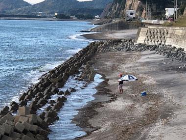 波が無い日は釣りで!