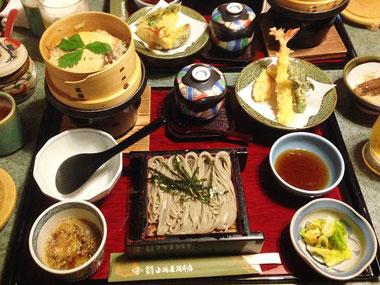 へぎそば・筍のわっぱ飯・天婦羅などの定食