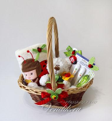летний подарочный набор для новорожденного малыша или малышки