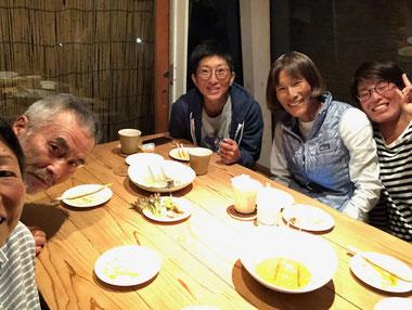 圭子さん達と晩御飯。BOSSトーク面白すぎ!よか晩でした。