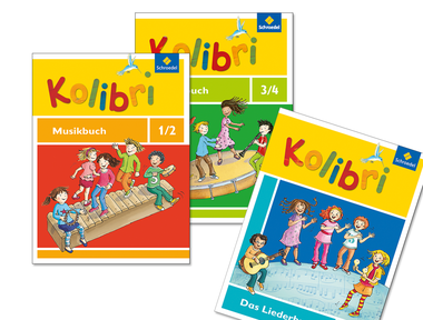 """Titelgestaltung der Musikbuchreihe """"Kolibri"""" für die Grundschule"""