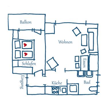 Grundriss Appartement 03 – Xaver