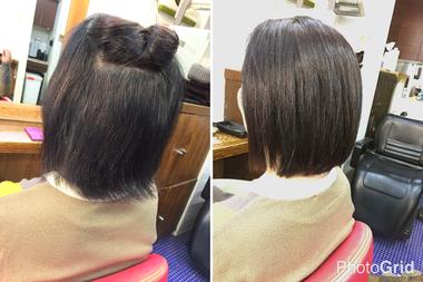 【縮毛矯正の髪型】 丸みのある自然な仕上がりのボブスタイルは出来るのか?
