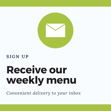Email sign up advertisement