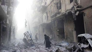 Det sønderbombede Øst-Aleppo