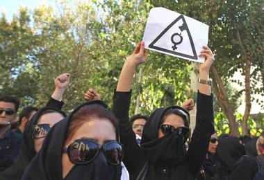 Demo mod syreangreb på kvinder