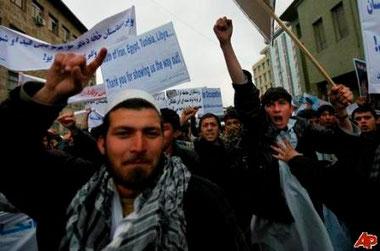 Venstrefløjsdemo i Kabul, d 6.marts 2011