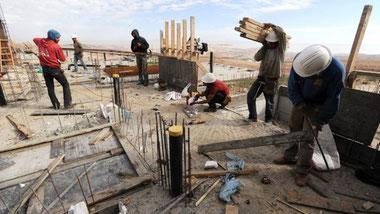 Palæstinensiske bygningarbejdere i Israel