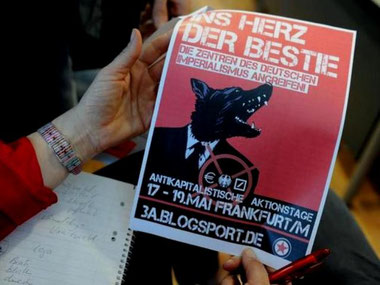 Flyer fra Occupy-protesterne i Frankfurt/ a.M.