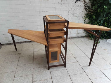 Mit dem Ideentisch gewann Lukas Flüs den Wildunger Designpreis.