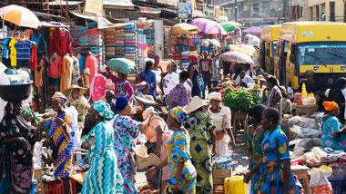 Mercato nigeriano a Lagos