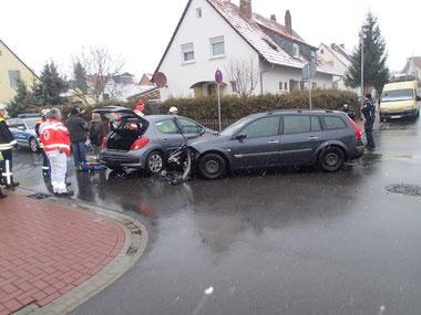 Unfallstelle nach Eintreffen der Einsatzkräfte. Foto: Polizei Kirchheimbolanden