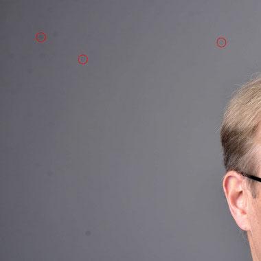 Aufnahme einer digitalen SLR-Kamera mit Sensor Dust Flecken, Oehlmann-Photography, Dr. Ralph Oehlmann