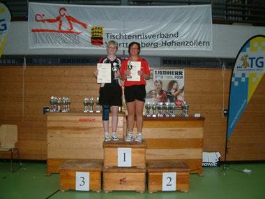 Damen B-Doppel:  1. Platz: Anja Angele / Lisa Kienle