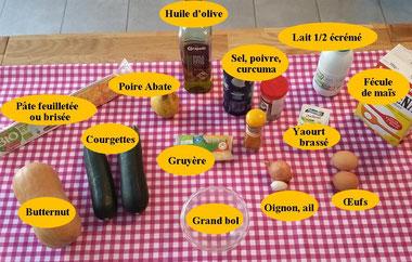 Ingrédients pour recette 2 en 1