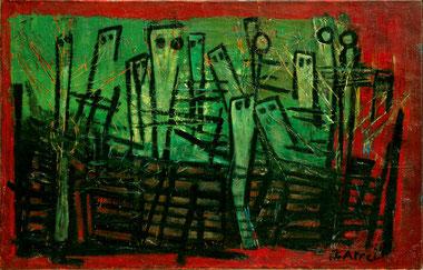 Begging children - Karel Appel, 1948