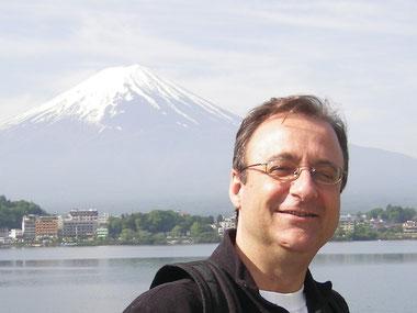 Vista del Fujisan desde el lago Kawaguchi (Japón)