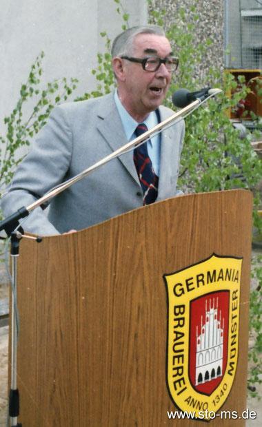 Theo Breider beim Richtfest des Erweiterungsbaus der Germania-Brauerei - Foto Alfred Kaup