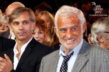 Paul et Jean-Paul Belmondo, lors de l'hommage à Jean-Paul Belmondo - Festival Lumière - Lyon - Oct 2013 - Photo © Anik COUBLE