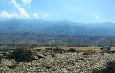 The drive to Wadi Shab, Muscat, Oman