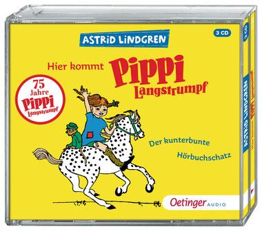 CD-Cover Hier kommt Pippi Langstrumpf - kunterbunter Hörbuchschatz