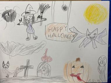 娘が描いたハロウィン