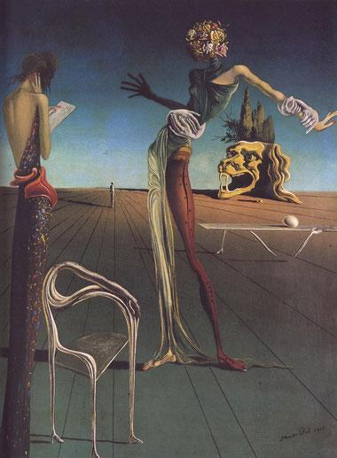 Женщина с головой из роз - Сальвадор Дали (1935)