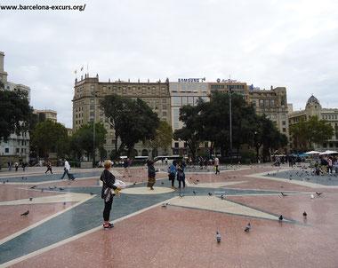 Площадь Каталонии в Барселоне - достопримечательности Барселоны