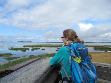 Daniela am Vogelschutzgebiet Tåkern