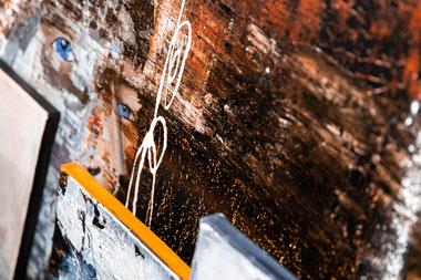 Prozess,  Atelier, Moderne_Kunst, Acryl, Pinsel, Malerei, Modern_Art, ART, Ottobrunn, München, Farbe, S18, Mischtechnik, Beton, Zement, Tusche, Bitumen, Schellack, Ausstellung, Galerie, Sabine_Zacharski