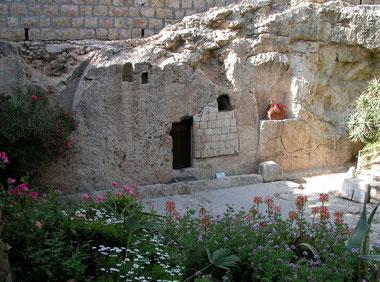 GRAF VAN JEZUS IN DE GRAFTUIN TE JERUZALEM