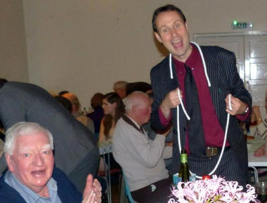 Party magician for adult birthdays or corporate parties
