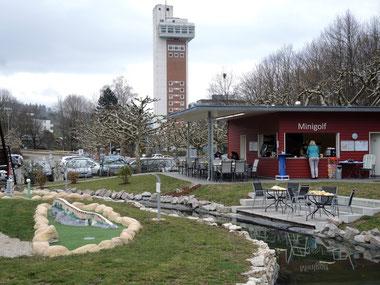 Papa-Moll-Minigolf in Bad Zurzach, Blick über die Anlage