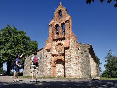 L'église Saint-Martin située à Prunet, petit village du Lauragais. Crédit photo : OT Pays du Pastel©