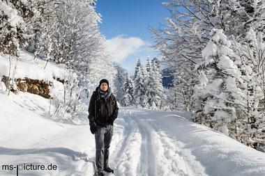 Matthias Schreyer im Schnee