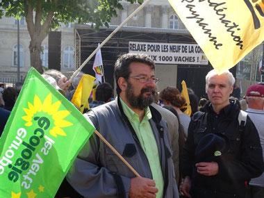 Europe Ecologie-Les Verts soutient et défend ceux et celles qui se battent pour une agriculture paysanne