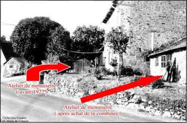L'enclos de la famille Couderc sur lequel sont visibles les deux ateliers.